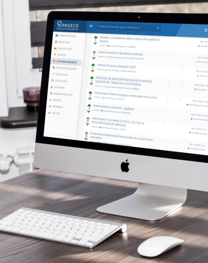 Plataforma on line Comunidad ANGECO: El nuevo ecosistema digital para las empresas asociadas y sus trabajadores